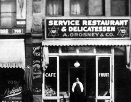 A.Grosneys Service Restaurant and Delicatessan 707 Main St _1925